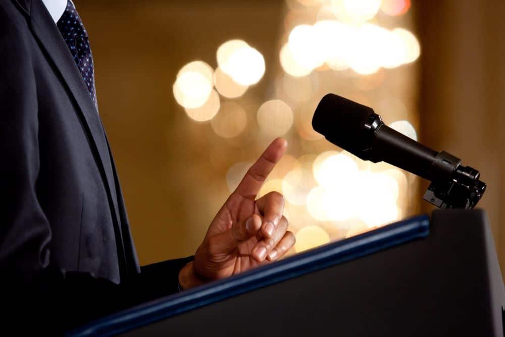 жести промовця
